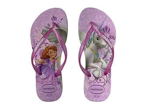 03a9ab16f3649 Havaianas Kids Slim Princess Sofia Flip Flops (Toddler Little Kid Big Kid)
