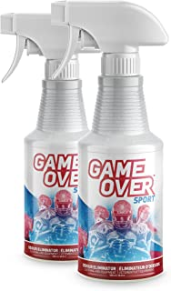 2 Pack : Biotech Odor Eliminator Spray - 2 x 500 ml - for Smelly Feet, Shoes, Clothes, Sport Equipment by Game Over