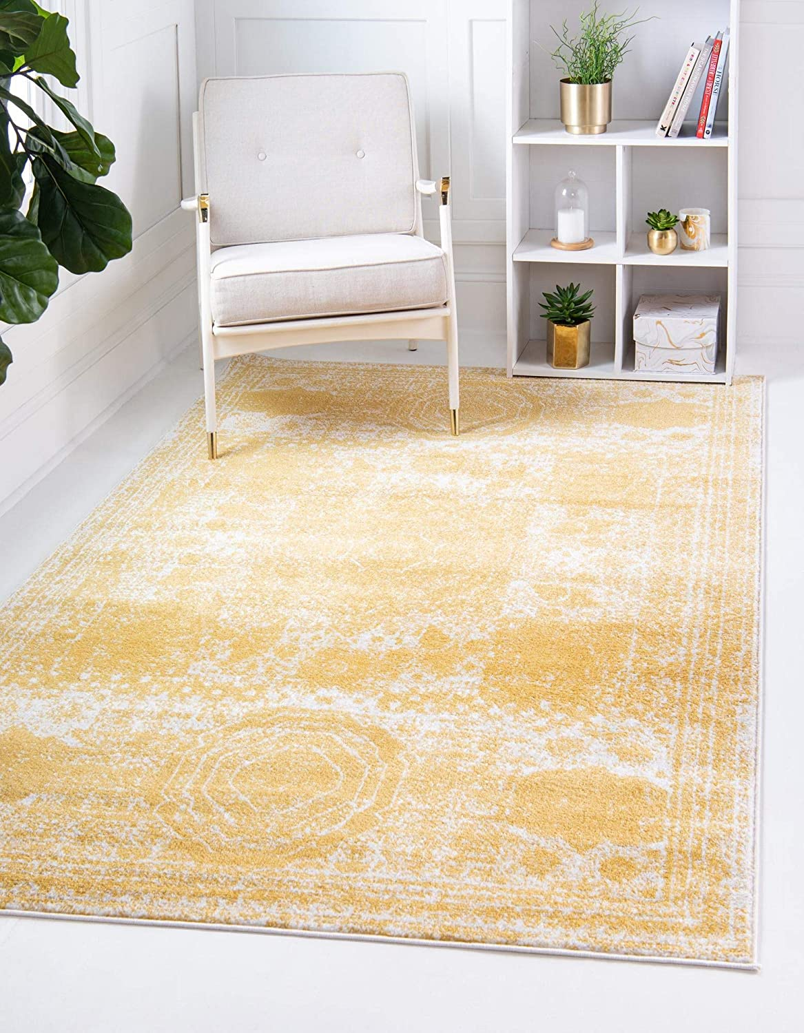 ! Super beauty product restock quality top! Rugs.com Dover Collection Rug – Low-Pile Yellow 5' Popular brand 3' x