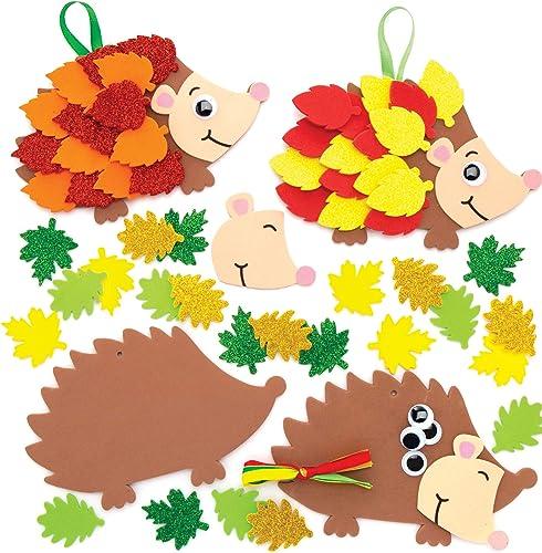 Baker Ross Kits de hérissons à Feuilles (Paquet de 5) - Loisirs créatifs d'automne et d'hiver pour Enfants AW937