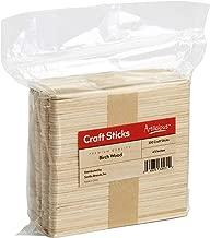 Artlicious - 200 Wooden Popsicle Craft Sticks 4.5 inch Standard Size