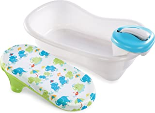 Summer Newborn to Toddler Bath Center and Shower, Blue