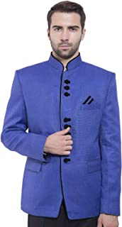 WINTAGE Men's Rayon Cotton Bandhgala Festive Maroon Nehru Mandarin Blazer_juteb202