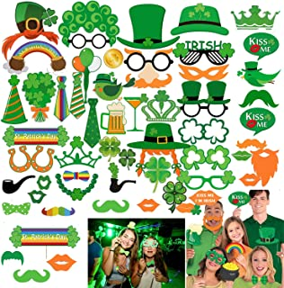 St.patricks Day Photo Booth Props, Artiflr 52pcs Funny St.patricks Day Photobooth Irish Beer Photo Booth Props with Sticks Selfie Props for Saint Patty's Day Party Favor Suppliers Celebrations