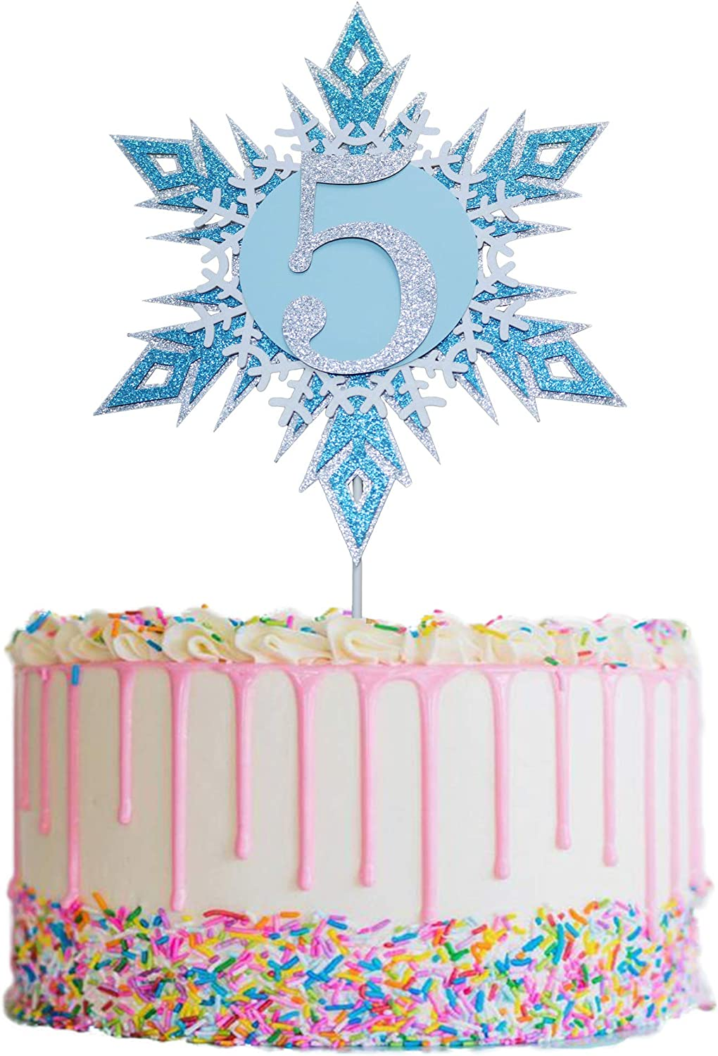 Frozen Cake Toppers 5 Happy Birthday Challenge the lowest price Snow 5th Topper In stock