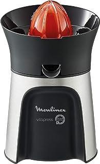 Moulinex PC603D10 Vitapress Direct Serve 3 Cônes-Presse-Agrume Gris Métallisé/Noir 100W
