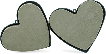 Bright Creations Floral Wet Heart Shaped Foam for Fresh Flowers (6 Pack)