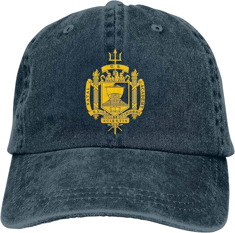 U.S. Naval Academy (Usna), Insignia Summer Essentials Fashion Washed Plain Baseball Cap,Cowboy Hat,Adjustable Hats for Unisex-Adult Navy