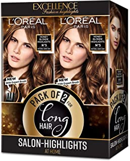 L'Oreal Paris Excellence Fashion Highlights, Honey Blonde, Pack of 2, 90 g