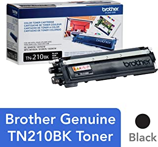 Brother Genuine Standard Yield Toner Cartridge, TN210BK, Replacement Black Toner, Page Yield Up To 2,200 Pages, TN210