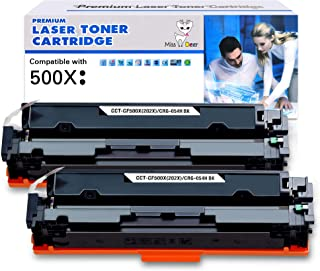 Miss Deer Compatible HP 202X 202A Toner Cartridges Upgraded Replacement for HP CF500X CF500A High Yield, for HP Laserjet P...