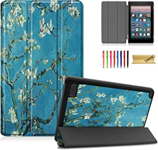 Dteck Slim Case for All-New Amazon Fire 7 9th Gen 2019 Release, Kindle Fire 7 2017 2015 Case, PU Leather Lightweight Shell...