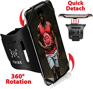 Tribe Running Phone Armband Holder for iPhone, Galaxy, Workout Arm Band, Women, Men. 360� Rotation & Detachable. Fits All 4-7 Inch Screen Phones Plus Case. Adjustable Strap, Pocket & More!