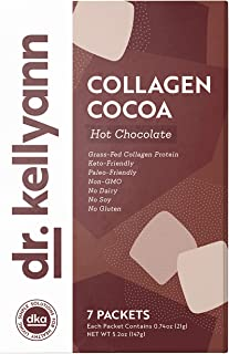 Keto Cocoa Hot Chocolate Packets to Go by Bone Broth Expert Dr. Kellyann - 100% Grass-Fed Collagen, Coconut Milk & Cocoa P...