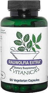 Vitanica Rauwolfia Extra, Blood Pressure & Cardiovascular Support Supplement, Vegan/Vegetarian, 90 Capsules