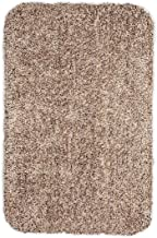 Plow & Hearth Large Mud Rug, Absorbent Dirt Trapping Machine Washable, Non Slip Indoor Mat, 29 W x 39 L - Tan