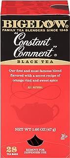 Bigelow Constant Comment Tea 28-Count Box (Pack of 3) Spiced Premium Black Tea with Orange Peel Antioxidant-Rich Full Caffeine Black Tea in Foil-Wrapped Bags