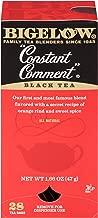 Bigelow Constant Comment Tea 28-Count Box (Pack of 1) Spiced Premium Black Tea with Orange Peel Antioxidant-Rich Full Caffeine Black Tea in Foil-Wrapped Bags