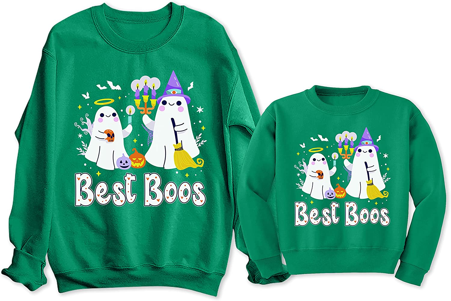 TEEAMORE Best Boos discount Attention brand Mommy and Me Halloween Ghost Funny Sweatshirt