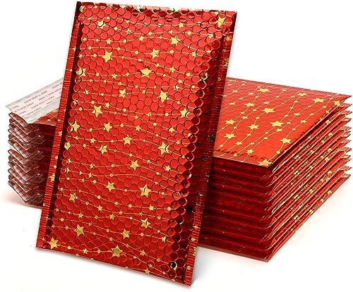 Lot de 25 24x33cm Star Enveloppes matelassées Enveloppes à Bulles Poly Sacs de transport pour l'envoi d'emballage TON...