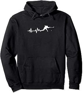 Hockey Player Heartbeat Ice Hockey Gift Pullover Hoodie