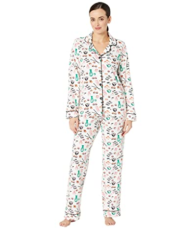 BedHead Pajamas Long Sleeve Classic Notch Collar Pajama Set (Sushi) Women