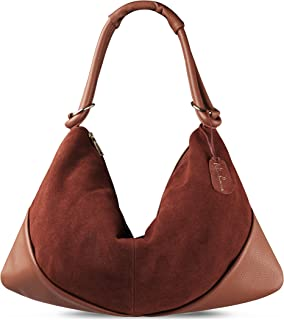 Suede Leather Hobo Bag Top Handle Women Dumpling Bag Large Handbag