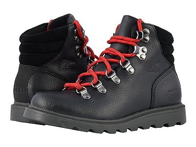 SOREL Kids Madsontm Hiker Waterproof (Little Kid/Big Kid) (Black) Kids Shoes