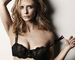 0c88bd99b Sarah Michelle Geller Black Sheer Lace Bra Top Modeling Photo (8 inch by 10  inch