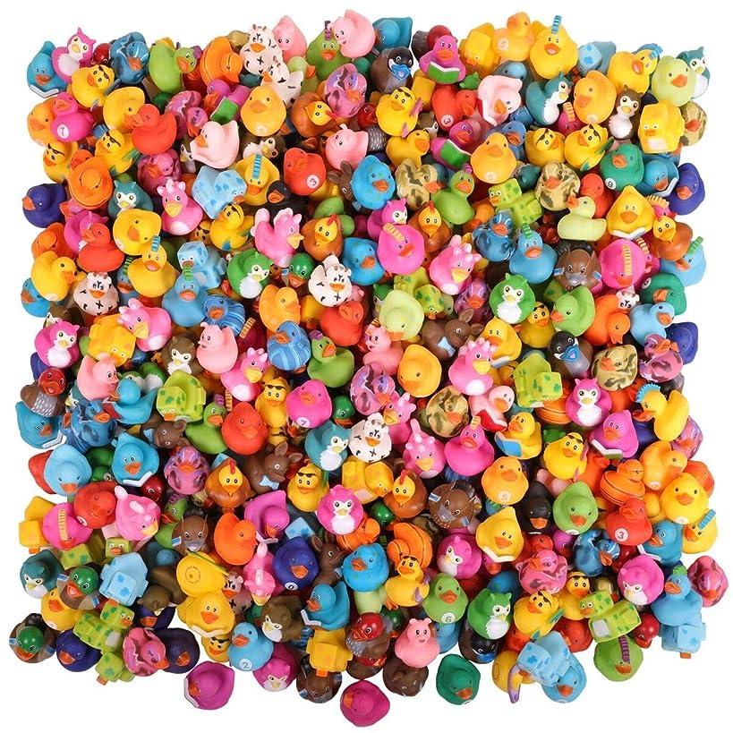 Narwhal Novelties Rubber Duck Bath Toy Assortment (300-Pack) Bulk Rubber Ducks (300)