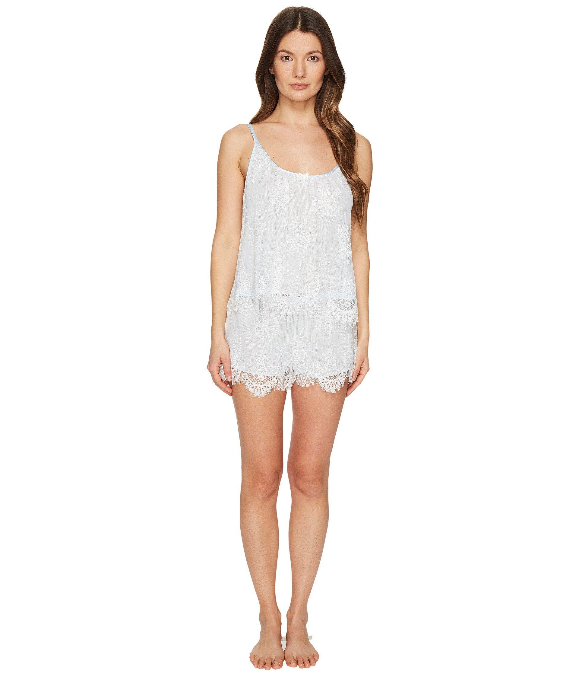 Conjunto de Pijama para Mujer Oscar de la Renta Pink Label Romantic All Over Lace Tap Set  + Oscar de la Renta en VeoyCompro.net