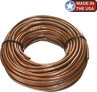 One Stop Outdoor USA Made - 1/4-Inch x 100-Feet Irrigation/Hydroponics Dripline with 6-Inch Emitter Spacing (Brown)