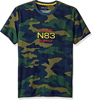 Men's Short Sleeve Camo Logo Crew Neck T-Shirt