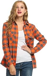 Best orange check shirt womens Reviews