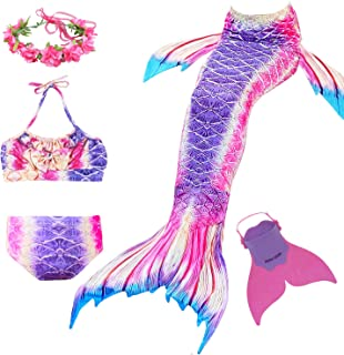 Romance Zone Cola de Sirena para Natación 5pcs Traje de Ba