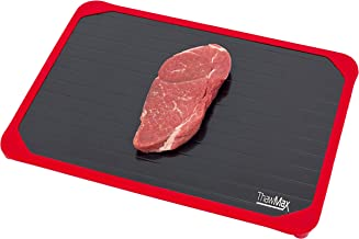 ThawMax Rapid Defrosting Tray | Defrost Chicken, Steak and Other Meats Quickly | No Mess Full Silicone Border | Thaw Froze...