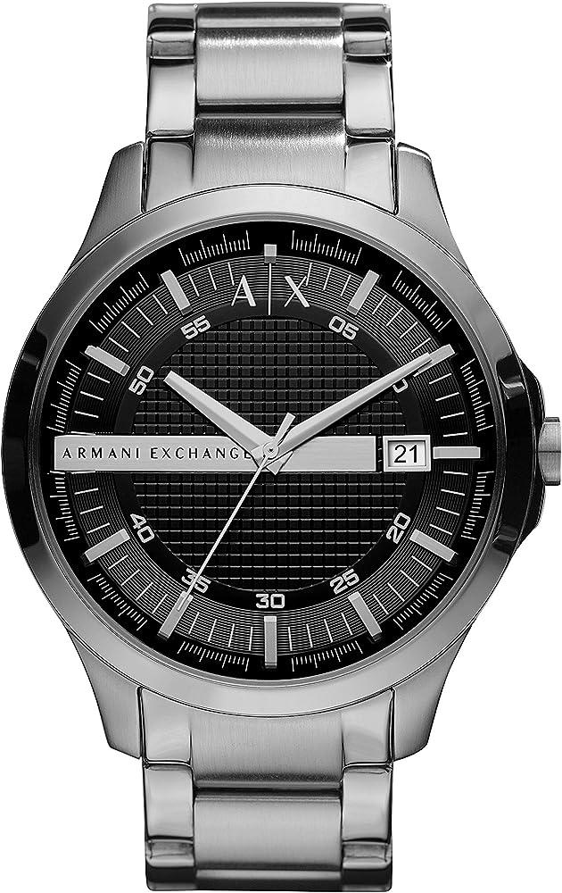 Armani exchange, orologio analogico per uomo, in acciaio inossidabile AX2103