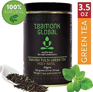 Nilgiri Tulsi Green Tea, 3.5oz (50 Cups)   Supports Weight Loss & Immunity   100% Natural Tulsi with Whole Loose Leaf Green Tea   No Additives