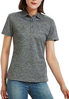 Safort Women Sun Protection Polo Shirt, Regular/Tall UPF 50+ UV Sun Protection Clothing, Short Sleeve Golf Tennis Shirt