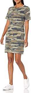 Lucky Brand Women's Short Sleeve Crew Neck Camo Summer Tee Dress