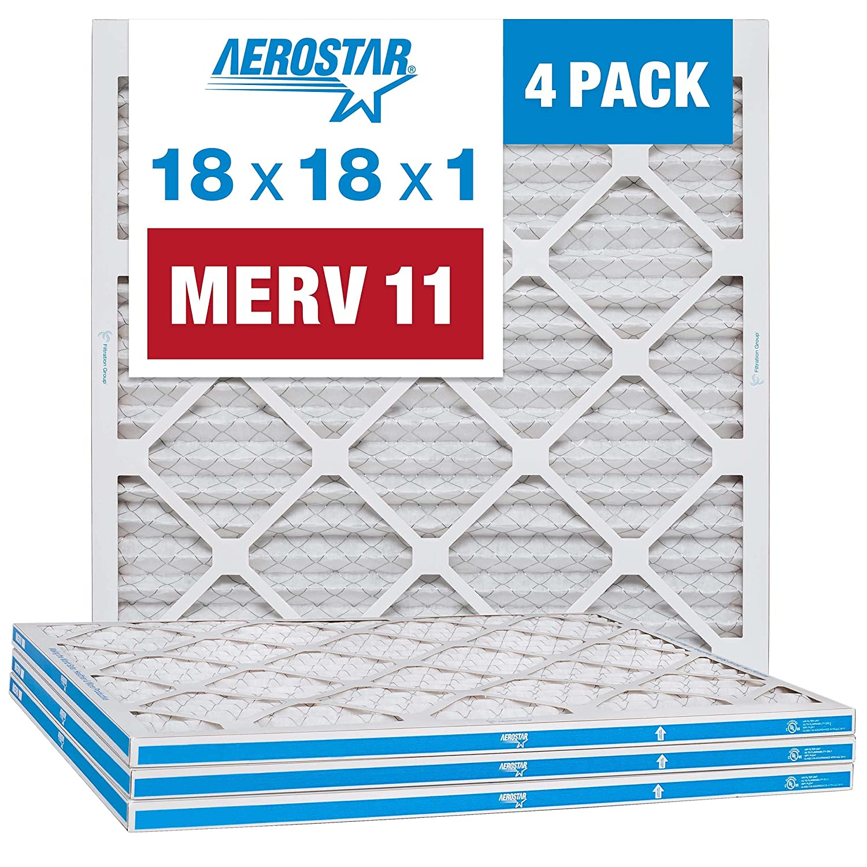 Aerostar 18x18x1 MERV 11 Pleated Furnace Filter Air Our shop most popular 40% OFF Cheap Sale AC Filt