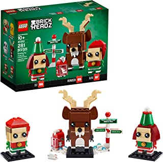 [NEW] 레고 2020 홀리데이 시즈널 브릭헤즈 40353 세트 LEGO Brickheadz Reindeer, Elf and Elfie 40353 Building Toy, New 2020 (281 Pieces)