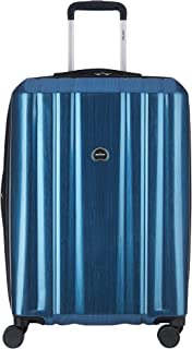 DELSEY Paris Unisex-Adult (Luggage only) Checked Suitcase, Blue, One_Size