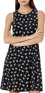 Women's Sleeveless U-Neck Swing Dress