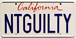 Celebrity Machines The Lincoln Lawyer | NTGUILTY | Metal Stamped License Plate