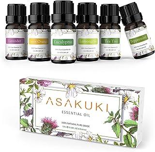 ASAKUKI Set de regalo de aceites esenciales puros 6 x 10 ml
