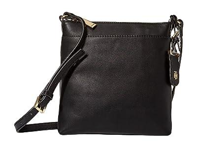 Tommy Hilfiger Julia North/South Crossbody (Black) Cross Body Handbags