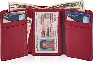 Best genuine leather trifold wallets Reviews