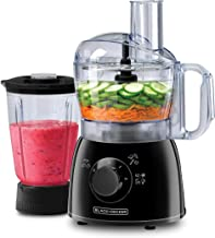 Black+Decker 400W Food Processor with Blender Jar, Black, FX400B-B5, 2 Year Warranty