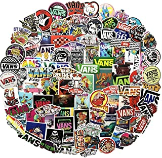 Fashion Vans Logo Brand Skateboard Stickers[100PCS] - Vinyl Sticker for Snowboard Laptop Cars Motorcycle Bike Luggage - Street Dreams Culture Graffiti DIY Patches Decals for Adults Boy Skateboarder